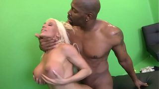 BIG BLACK COCK PENETRATE MILF BLONDE WITH HUGE SILICONE TITS